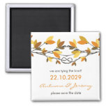 fatfatin Autumn Knotted Love Trees Save The Date Refrigerator Magnet