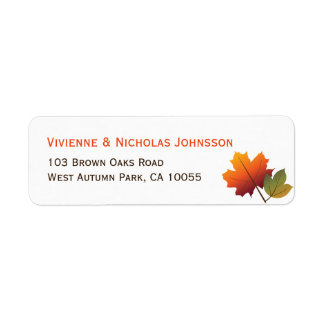 fatfatin Autumn Tree Leaves Maple Address Labels