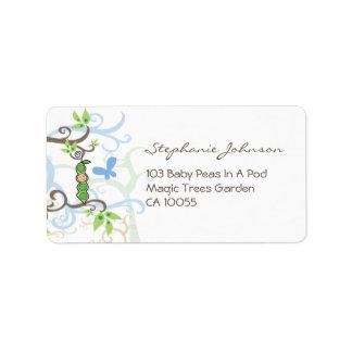 fatfatin Baby Boy Pea In A Pod Address Labels