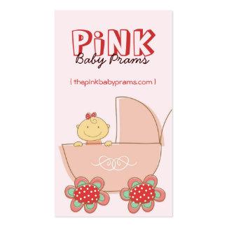 fatfatin Baby Girl Pink Pram Custom Profile Card Business Card