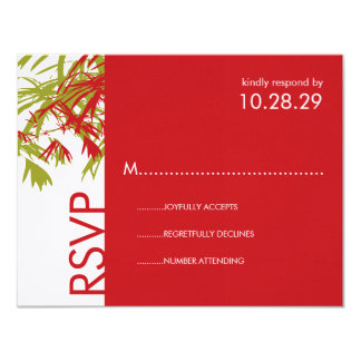 fatfatin Bamboo Leaves + Double Xi RSVP Card