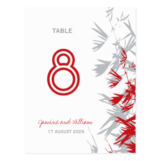 fatfatin Bamboo Leaves Table Number Postcard