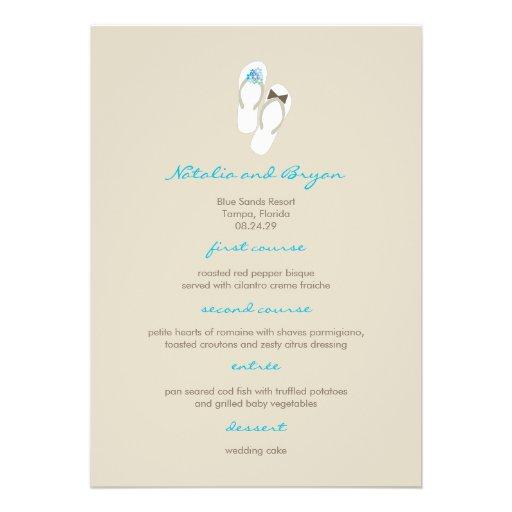 Personalized Flip Flops Invitations