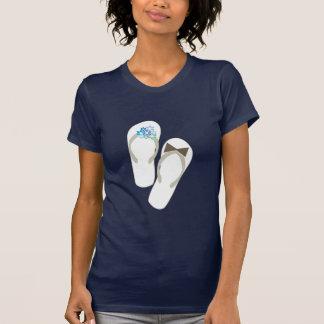 fatfatin Beach Blue Flip Flops Wedding T-shirt
