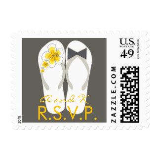 fatfatin Beach Hibiscus Flip Flops RSVP Stamps