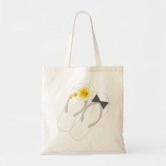 fatfatin Beach Hibiscus Flip Flops Wedding Gift Ba Budget Tote Bag