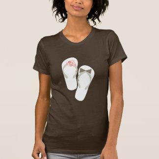fatfatin Beach Pink Flip Flops Wedding T-shirt