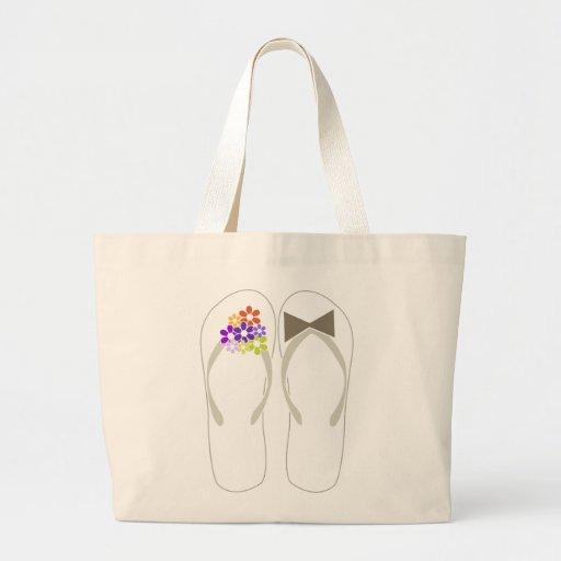 fatfatin Beach Purple Flip Flops Wedding Gift Bag
