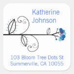 fatfatin Bloom Tree Dots Address Label Stickers