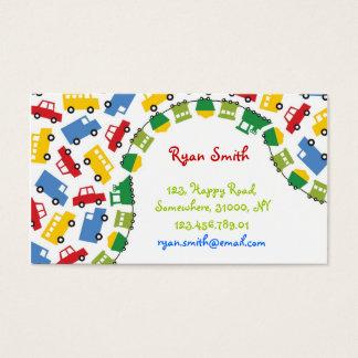 fatfatin Boys' Toys Fun Transport Profile Card