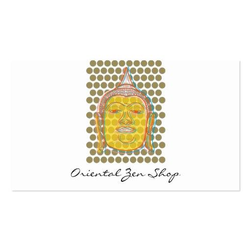 fatfatin Buddha Pop Dots Modern Zen Profile Cards Business Card Template
