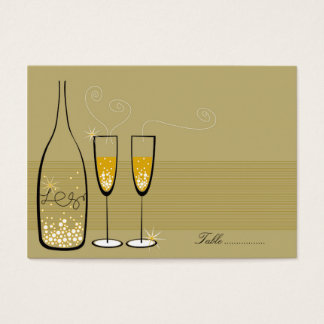 fatfatin Champagne Bubbles Gold Place Card