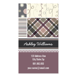 fatfatin Coffee Combo Pattern Profile Card Double-Sided Standard Business Cards (Pack Of 100)