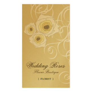 fatfatin Cream Roses & Swirls Profile Card Double-Sided Standard Business Cards (Pack Of 100)