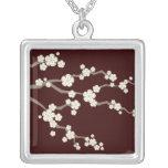 fatfatin Cream Sakuras Cherry Blossoms Necklace