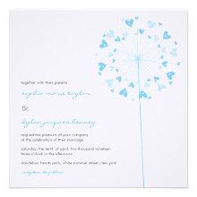 fatfatin Dandelions Love 01 Wedding Invitation