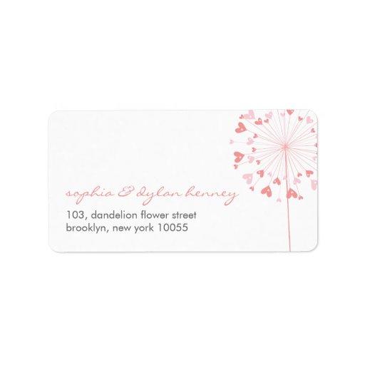 fatfatin Dandelions Love 02 Address Labels Custom Address Label