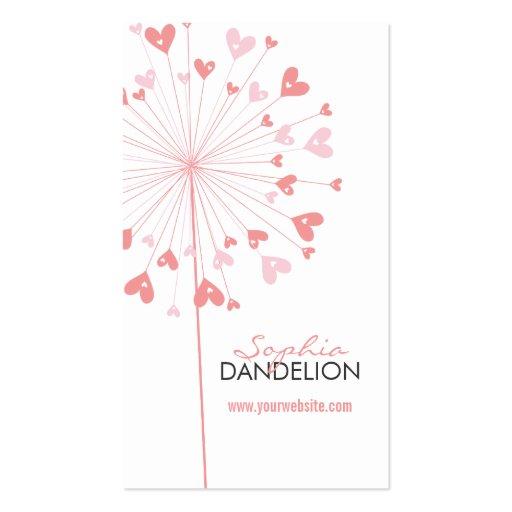 fatfatin Dandelions Love 02 Profile Card Business Cards