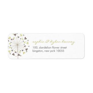 fatfatin Dandelions Love 03 Address Labels Return Address Labels