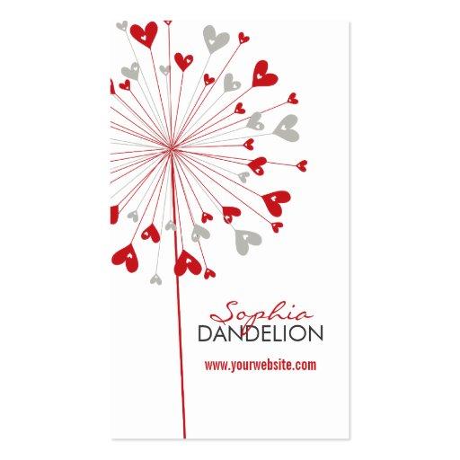 fatfatin Dandelions Love 03 Profile Card Business Cards