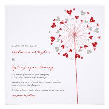 fatfatin Dandelions Love 03 Wedding Invitation