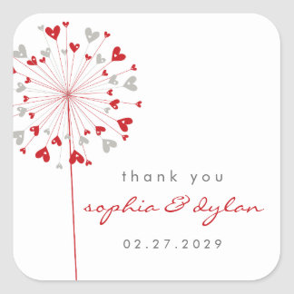 fatfatin Dandelions Love 03 Wedding Sticker