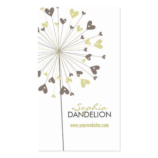 fatfatin Dandelions Love 04 Profile Card Business Card Template