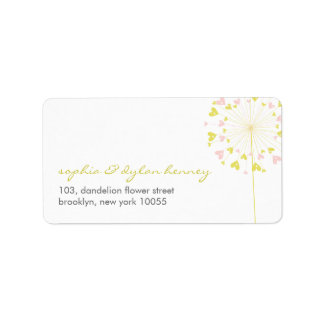 fatfatin Dandelions Love 05 Address Label Address Label
