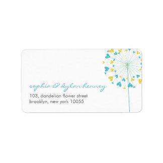 fatfatin Dandelions Love 06 Address Label Personalized Address Label