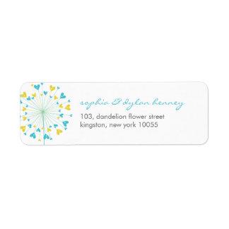 fatfatin Dandelions Love 06 Address Labels Return Address Labels