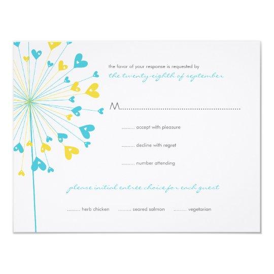 fatfatin Dandelions Love 06 RSVP Card