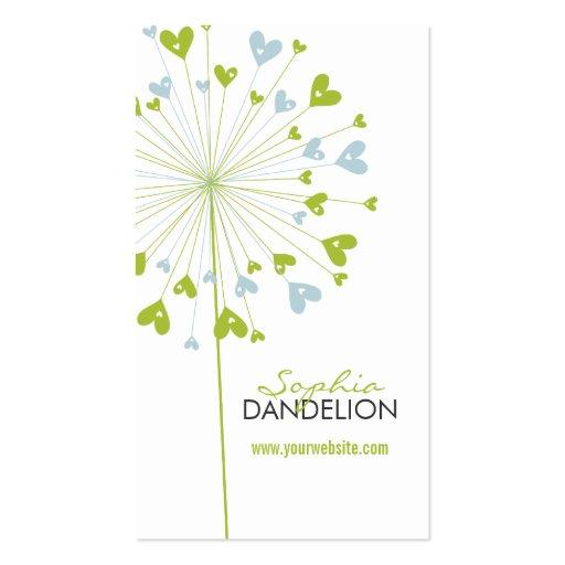 fatfatin Dandelions Love 07 Profile Card Business Cards