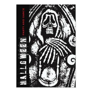 "fatfatin Death Skeleton Halloween Party Invitation 5"" X 7"" Invitation Card"