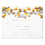 fatfatin Fall Autumn Knotted Love Trees RSVP Card Personalized Invitations