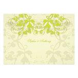 fatfatin Floral Flourish Lime Wedding Invitation Announcements