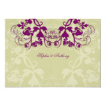 "fatfatin Floral Flourish Purple Wedding Invitation 5"" X 7"" Invitation Card"