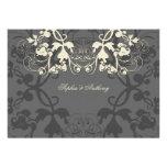 fatfatin Floral Flourish White Wedding Invitation Personalized Invitations