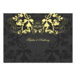 fatfatin Floral Flourish Yellow Wedding Invitation Invitations