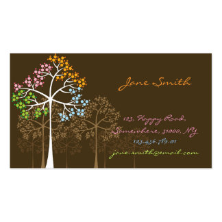 fatfatin Four Seasons Trees Custom Business Cards Business Card Template