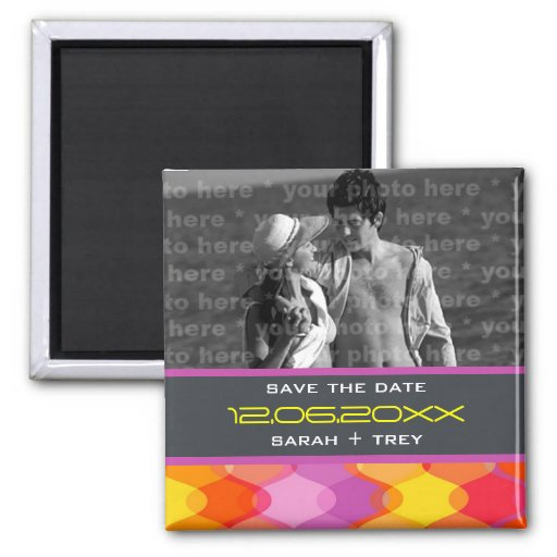 fatfatin Funky Waves Save The Date Photo Magnet