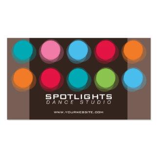 fatfatin Fuzzy Color Dots Fun Profile Card Business Card Template