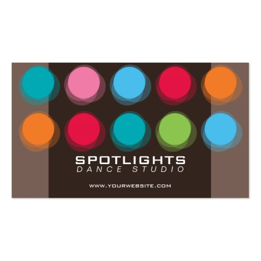 fatfatin Fuzzy Color Dots Fun Profile Card Business Card Template