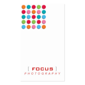 fatfatin Fuzzy Shadow Color Dots Profile Card Double-Sided Standard Business Cards (Pack Of 100)