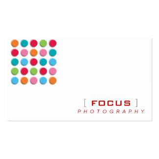 fatfatin Fuzzy Shadow Color Dots Profile Card Business Cards