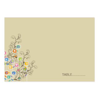 fatfatin Groovy Flower Garden Seating Place Card Business Card Templates