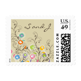 fatfatin Groovy Flower Garden Wedding Stamps