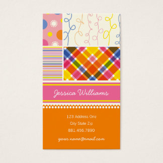 fatfatin Hot Pink Combo Pattern Profile Card