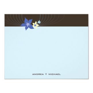 fatfatin Ikebana Blue Blooms Thank You Card
