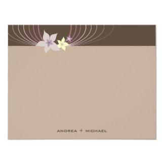 fatfatin Ikebana Purple Blooms Thank You Card