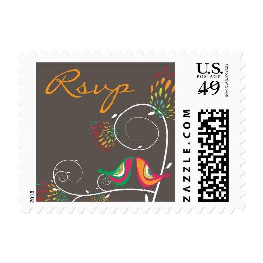 fatfatin Kissing Summer Birds RSVP Stamps